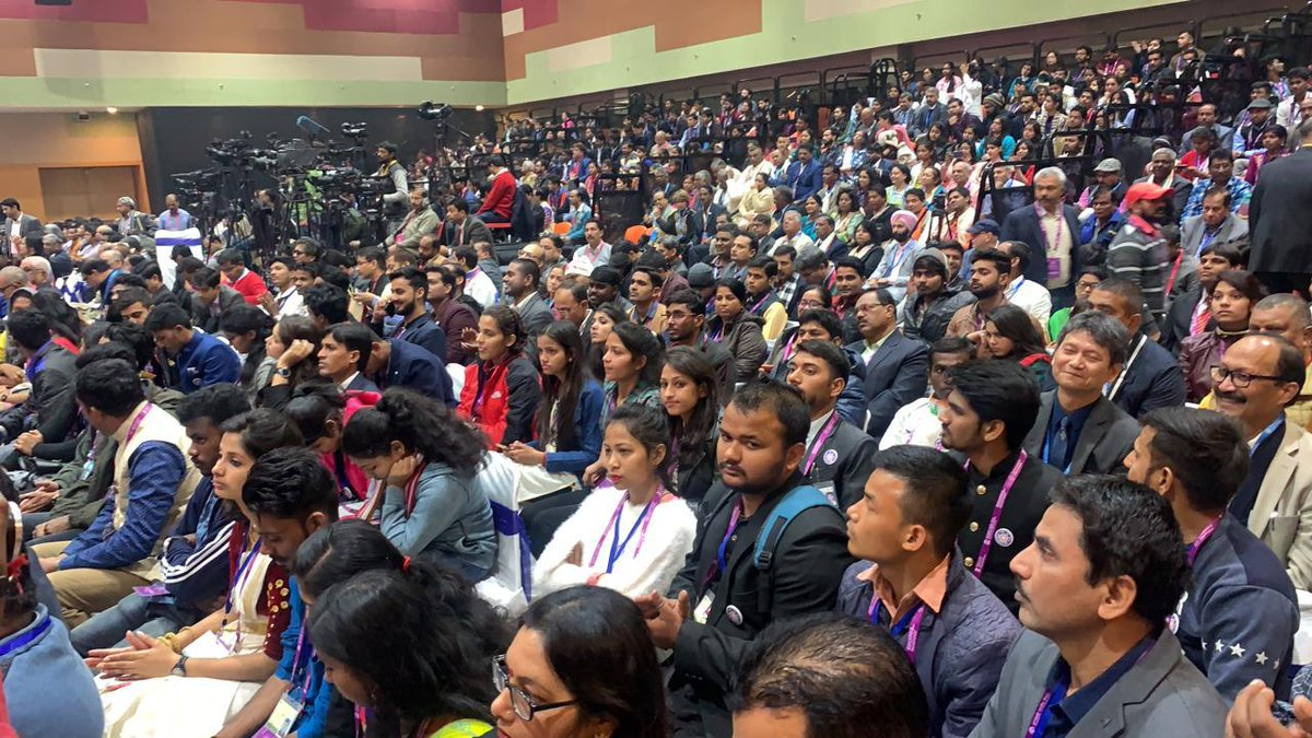 Youth PBD sees enthusiastic participation from the Indian Diaspora at Varanasi. Photo courtesy: Twitter@PBDConvention