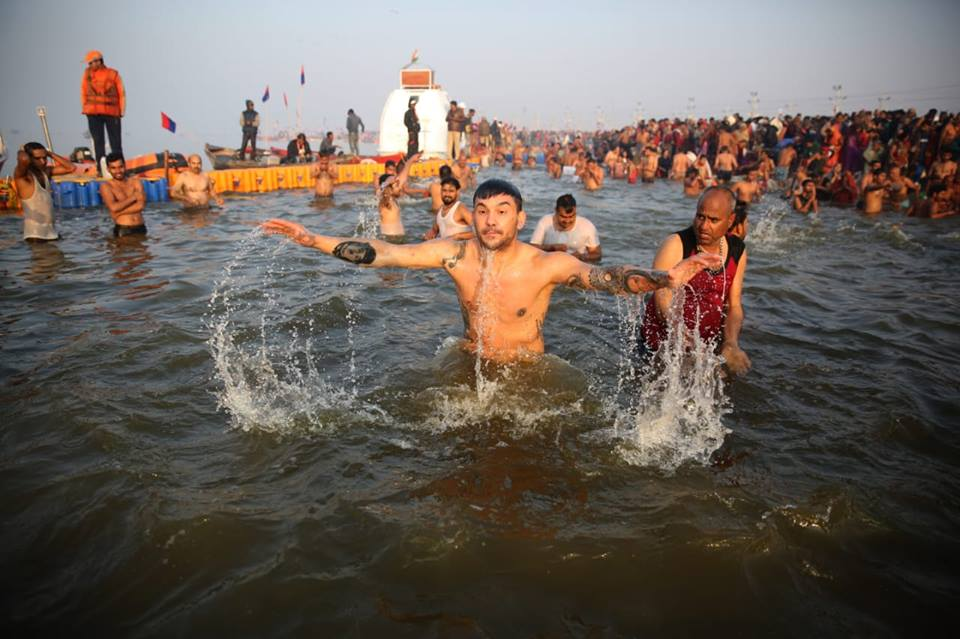 PBD delegates will take a holy dip in Sangam, the confluence of the sacred rivers Ganga, Yamuna and mythical Saraswati in the ongoing Kumbh Mela at Prayagraj. Photo courtesy: kumbh.gov.in