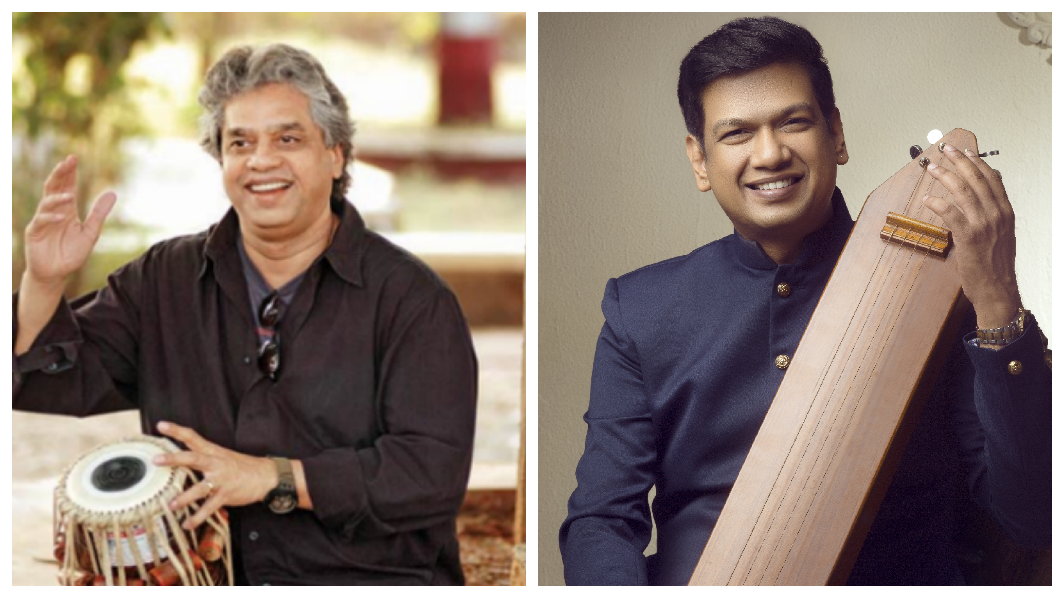 Ustad Fazal Qureshi (left)  has been associated with Mynta, his world music band based in Sweden. Vijay Prakash (right) has done backing vocals for about 25 foreign films including Hollywood. Photo courtesy: Arte Compass