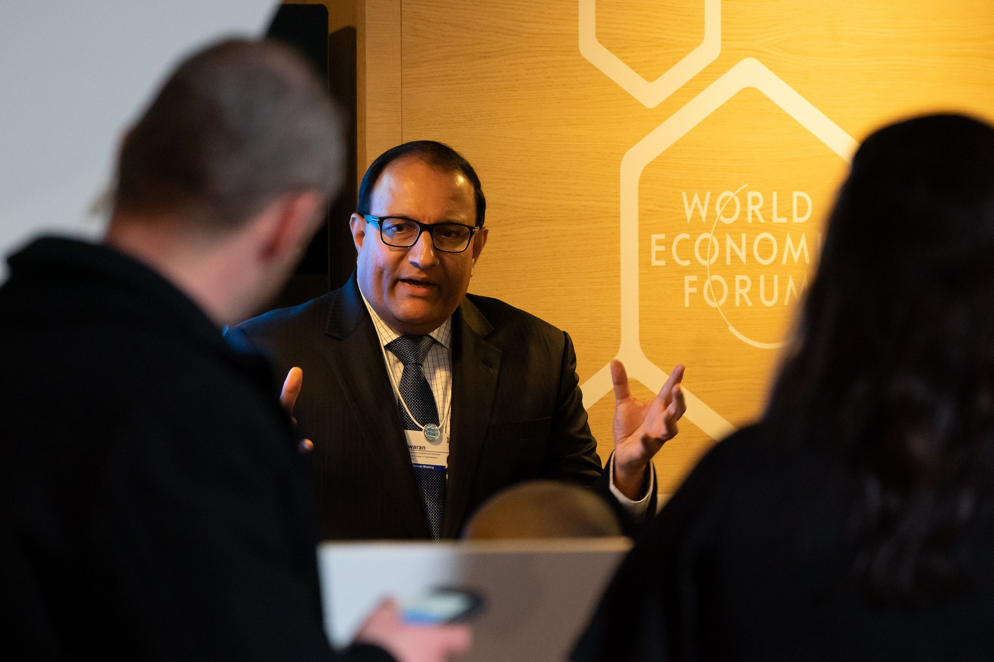 Mr S Iswaran, Minister for Communications and Information, announced the release of Model Artificial Intelligence (AI) Governance Framework at the World Economic Forum Annual Meeting held in Davos from January 22 to 25, 2019. Photo courtesy: World Economic Forum