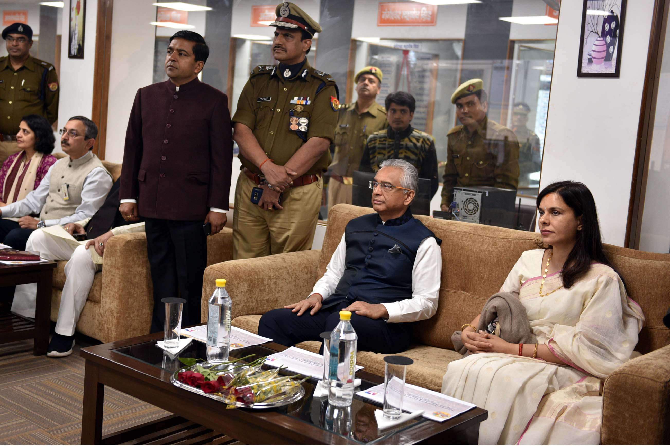 Pravind Jugnauth, Prime Minister of Mauritius also went to Kumbh's newly developed integrated command and control centre in Prayagraj. Photo: Connected to India