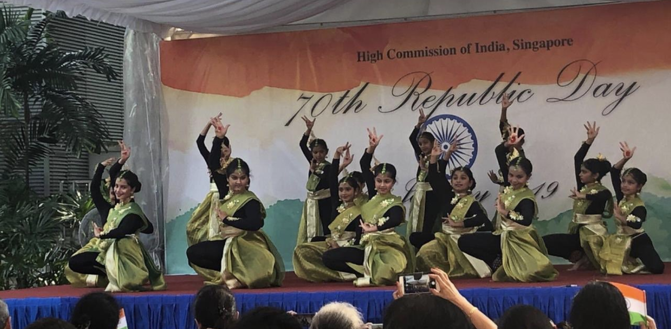 Culture performances at Republic Day celebrations at High Commission of India, Singapore. Photo courtesy: HCI