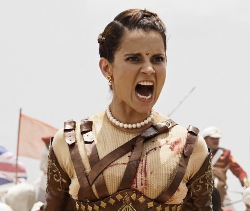 Kangana's performance in the film Manikarnika: The Queen of Jhansi is getting widely appreciated by celebrities from the film fraternity as well as the audience at large. Photo courtesy: Twitter page of Manikarnika