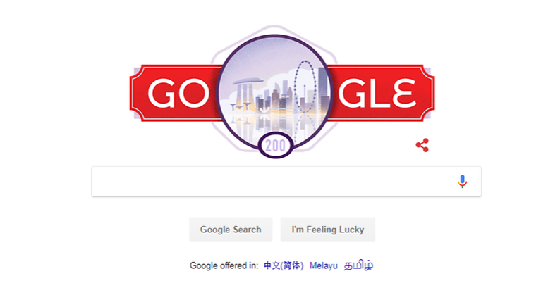 Google displayed a bright red logo, with key Singapore landmarks such as Marina Bay Sands, Gardens by the Bay and the Singapore Flyer featured in the Doodle. Photo courtesy: Google