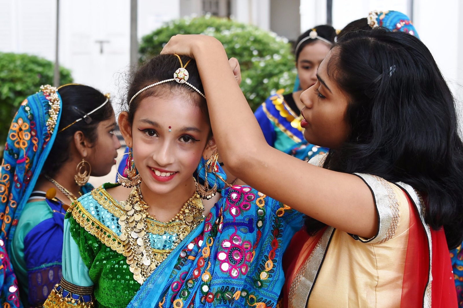 An Indian school kid gets ready for her performance at the Republic Day Celebrations at the Indian High Commission in Singapore. Photo courtesy: Indian High Commission