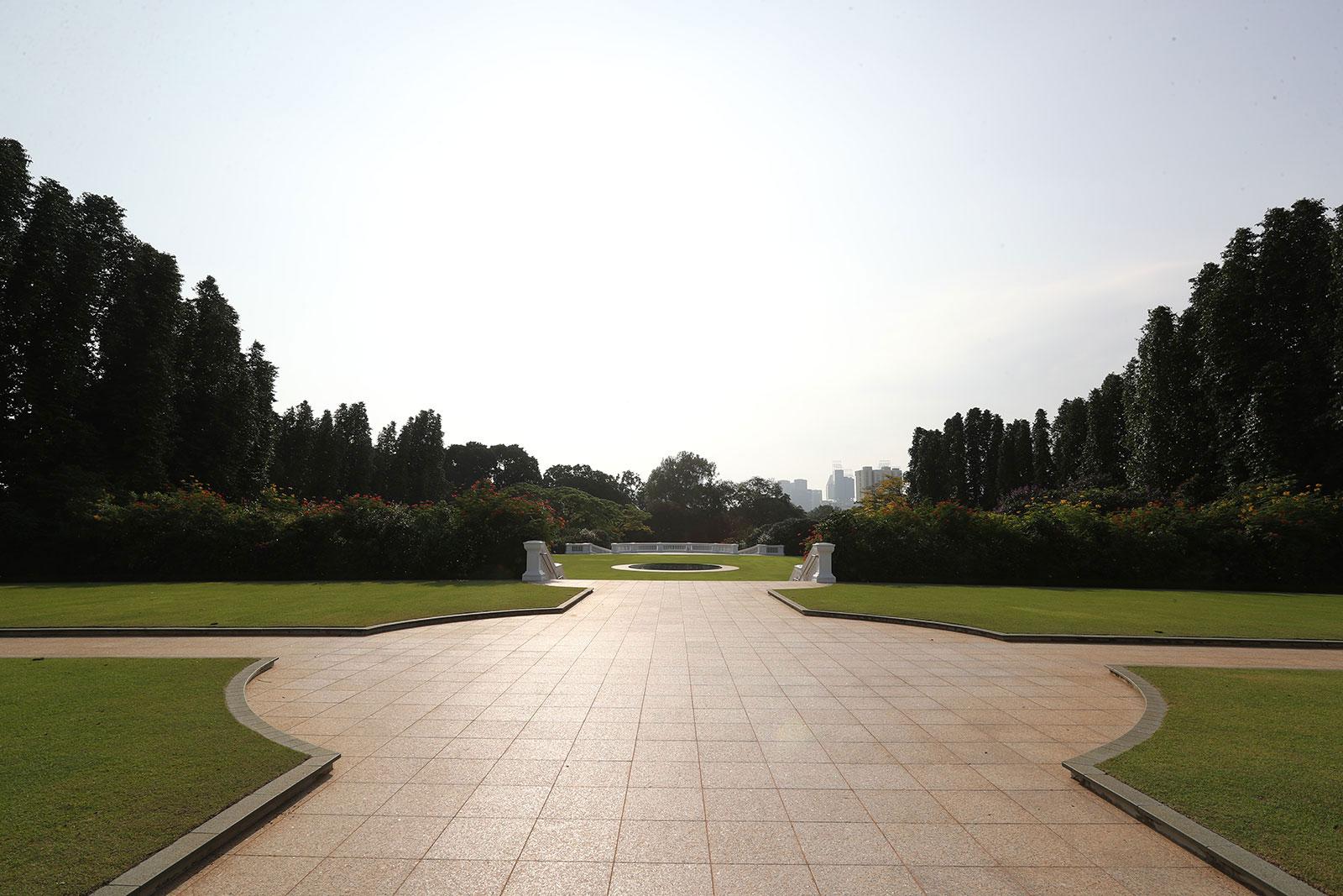 The sprawling lawns of Istana. Photo courtesy: Istana