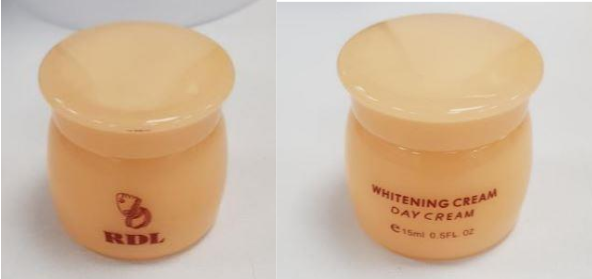 'RDL Babyface Whitening Cream' and 'RDL Face Off Fade-Out Cream' were also found to contain mercury. Photo courtesy: HSA
