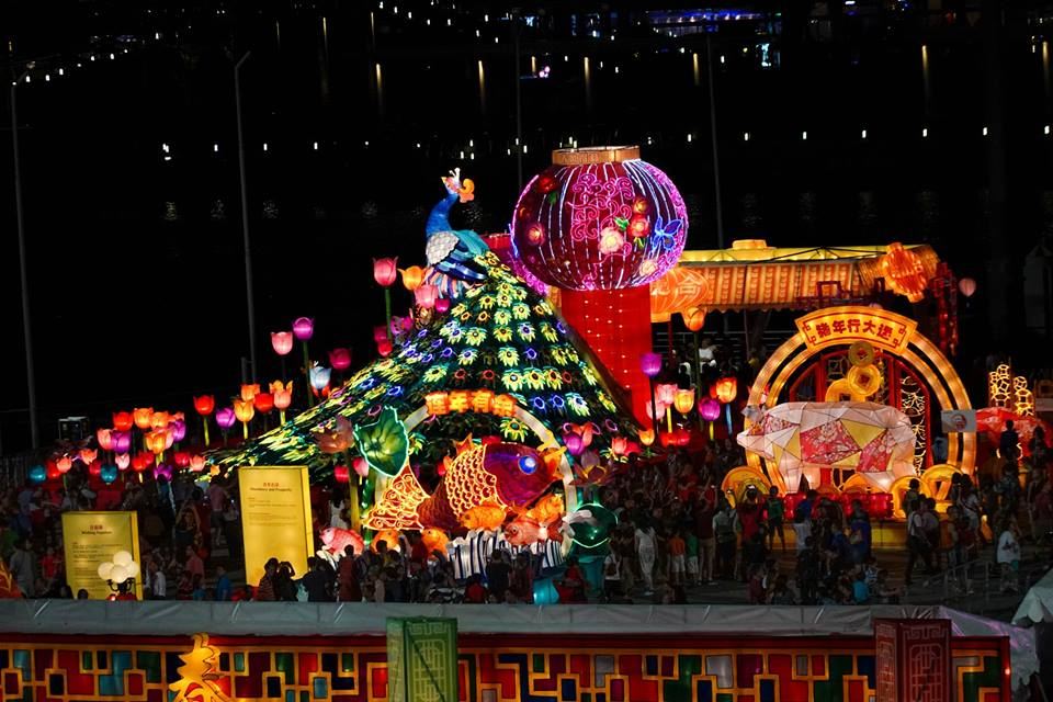 The elaborate lanterns displays are a treat for the eyes. Photo courtesy: Facebook page of PM Lee