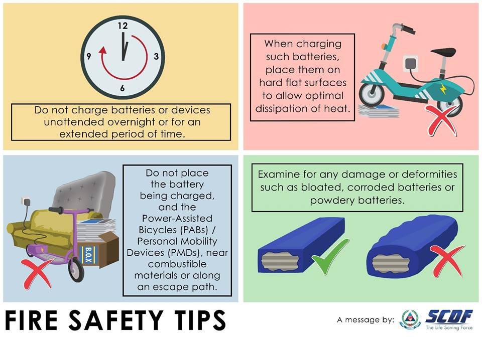 SCDF reminded the public on the preventive measures of such fires with fire safety infographics. Photo courtesy: SCDF