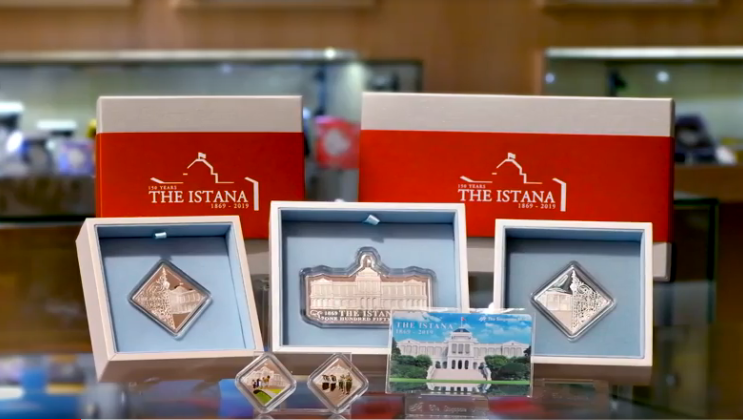 The Istana Souvenir Series consists of five medallion designs featuring the architecture of the buildings within the Istana compound and significant highlights of the residence. Photo courtesy: Singapore Mint