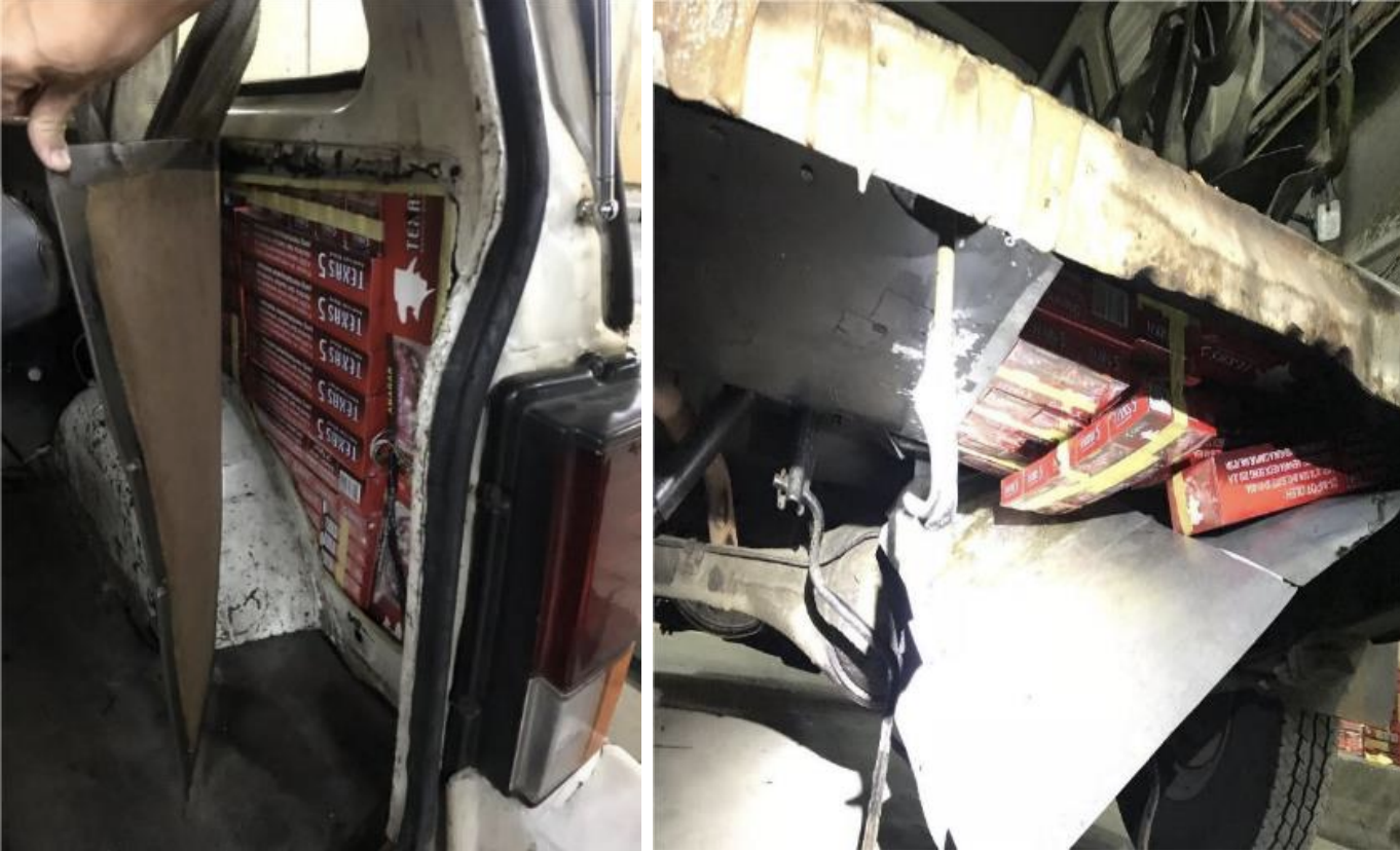 Duty-unpaid cigarettes being smuggled into Singapore. Photo courtesy: Singapore Customs