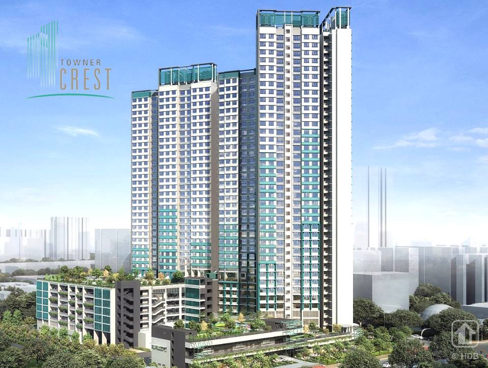 Towner Crest comprises 2 residential blocks that offer 444 units of 3- and 4-room flats. The development's name describes its tall residential blocks that range from 35 to 39 storeys high. Photo courtesy: Facebook page of HDB