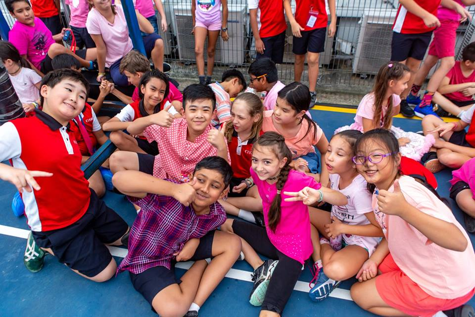The Tanjong Katong Campus  of Canadian International School of Singapore was a sea of pink as the children celebrated Kindness Day. Photo courtesy: Facebook page of Canadian International School, Singapore