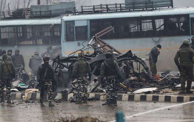 Tension between India and Pakistan esclated since February 14 suicide bombing carried by a JeM terrorist at Pulwama in Kashmir that killed 40 Central Reserve Police Force (CRPF) troops. Photo courtesy: Twitter@ANI