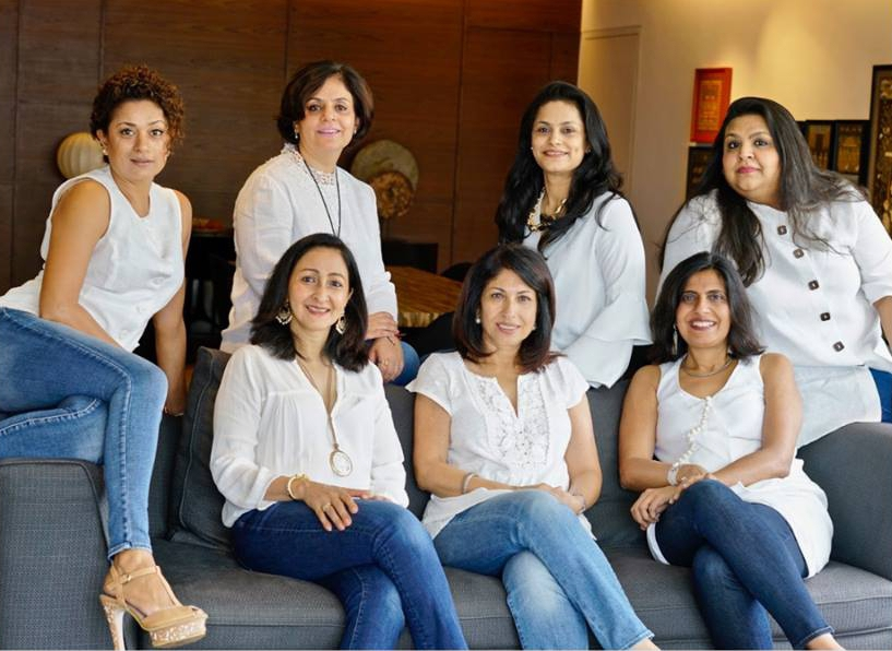 7Stories was started by women in Singapore who come from different walks of life but all have a passion for giving back to their community. (Top row, from L to R) Anupama Sekhri Zain, Anjali Soota. Smita Sunil, Shefali Khushalani. (Front row from L to R) Manisha Garg, Nishta Kathpalia Sipahimalani, Deepali Shah. Photo courtesy: 7Stories' Facebook page/Bindu Bhutani