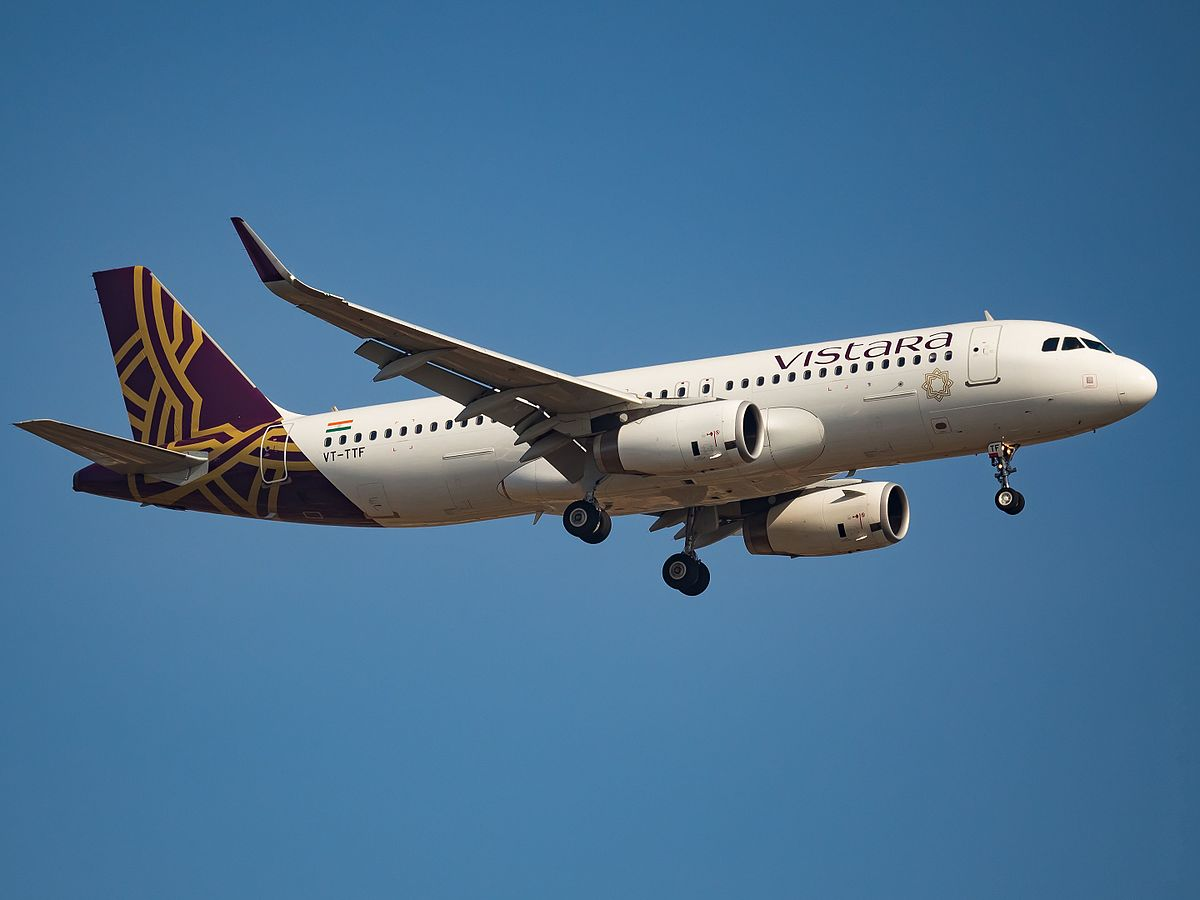 Vistara has become the seventh Indian carrier to fly overseas. Photo courtesy: Wikipedia