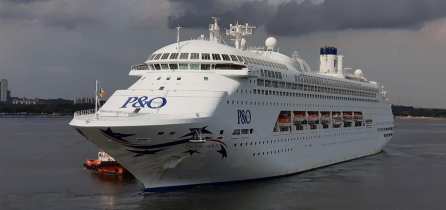 Cruise ship Pacific Jewel from P&O Australia is undergoing transformation in Singapore and renamed Karnika at a christening ceremony in Mumbai on April 19. Photo courtesy: Jalesh Cruises
