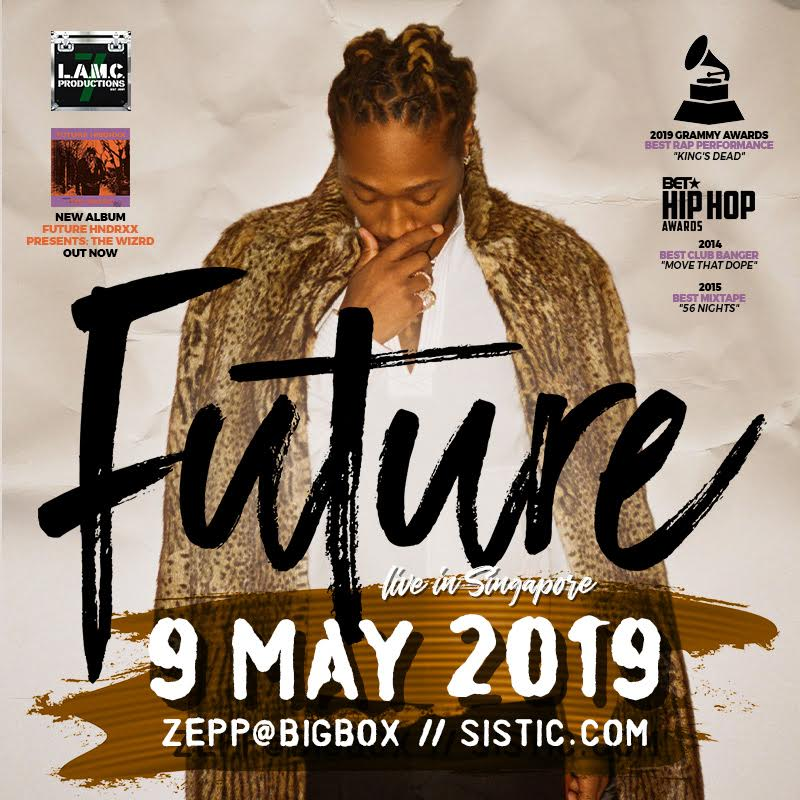 Atlanta hip-hop star FUTURE to make anticipated debut in Singapore
