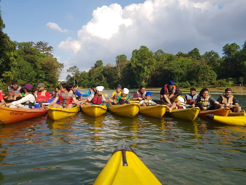 SKA organising kayaking activity at MacRitchie Reservoir in Singapore. Photo courtesy: SKA