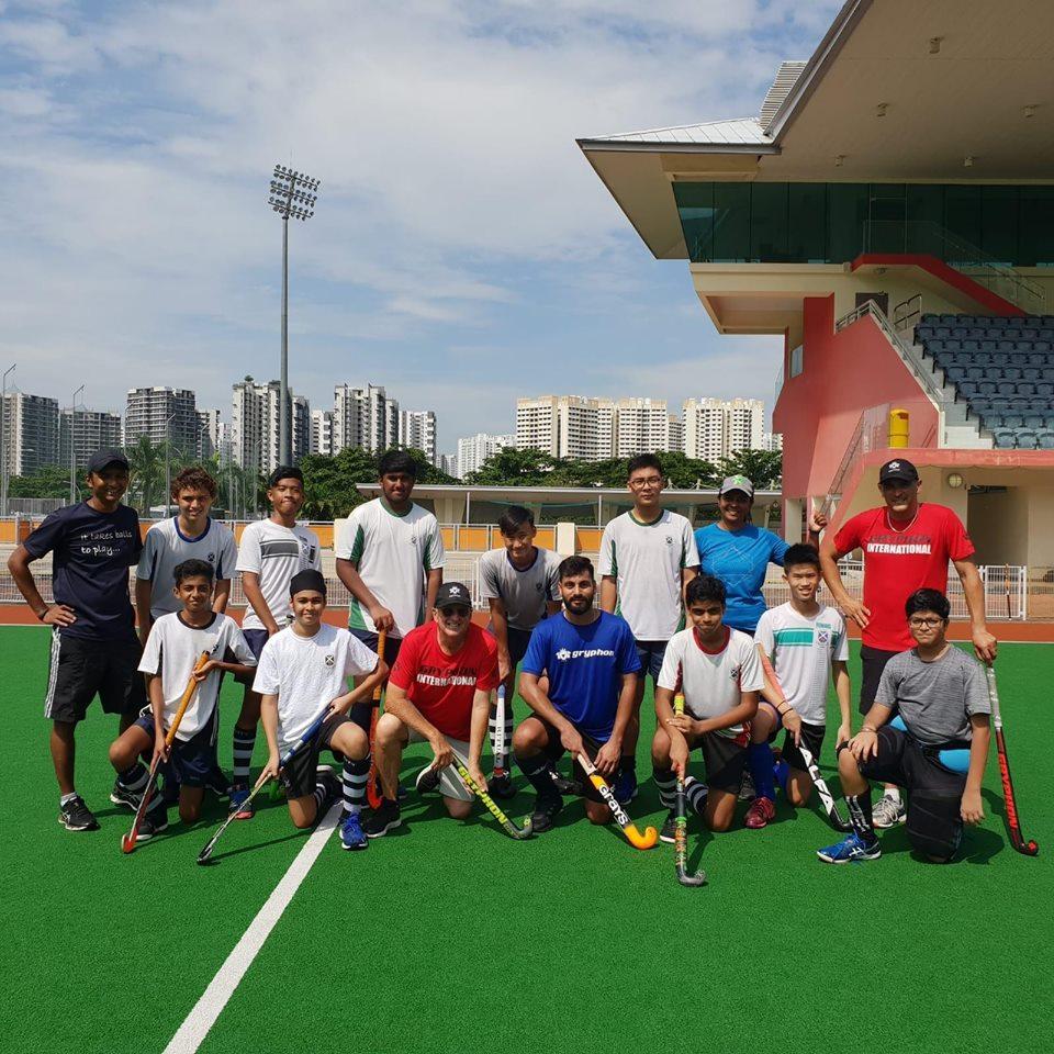 Members of SKA's hockey team present at the Sengkang Hockey Stadium in Singapore. Photo courtesy: SKA