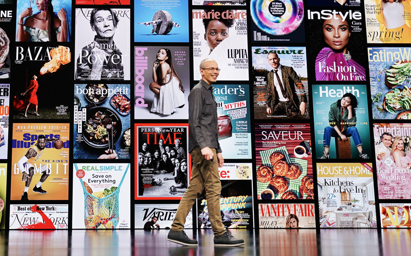 Roger Rosner presents Apple News+, a new subscription service that offers a personalised, curated experience within the Apple News app. Photo courtesy: Apple