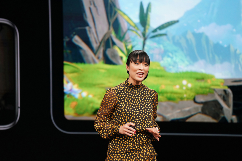 Ann Thai unveils Apple Arcade, a new game subscription service launching this fall. Photo courtesy: Apple