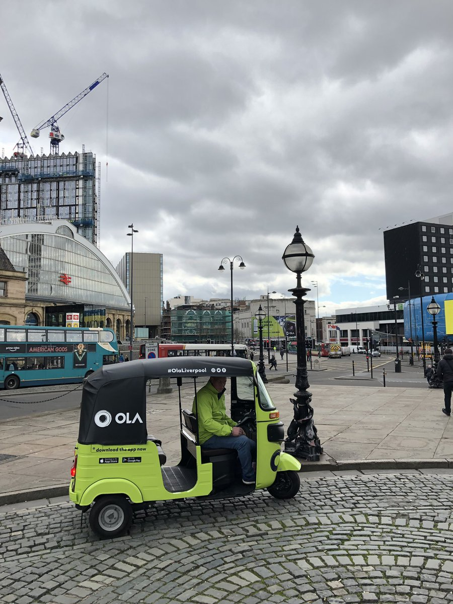 To celebrate its entry in the region, the Indian company offered rides free of charge around the Liverpool City Centre. Photo courtesy: Twitter/@OlainUK