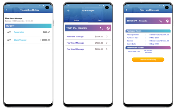 Features of the TRUST Customer App include transaction history checking and reviewing of package details and balance. Photo courtesy: EZ-Link
