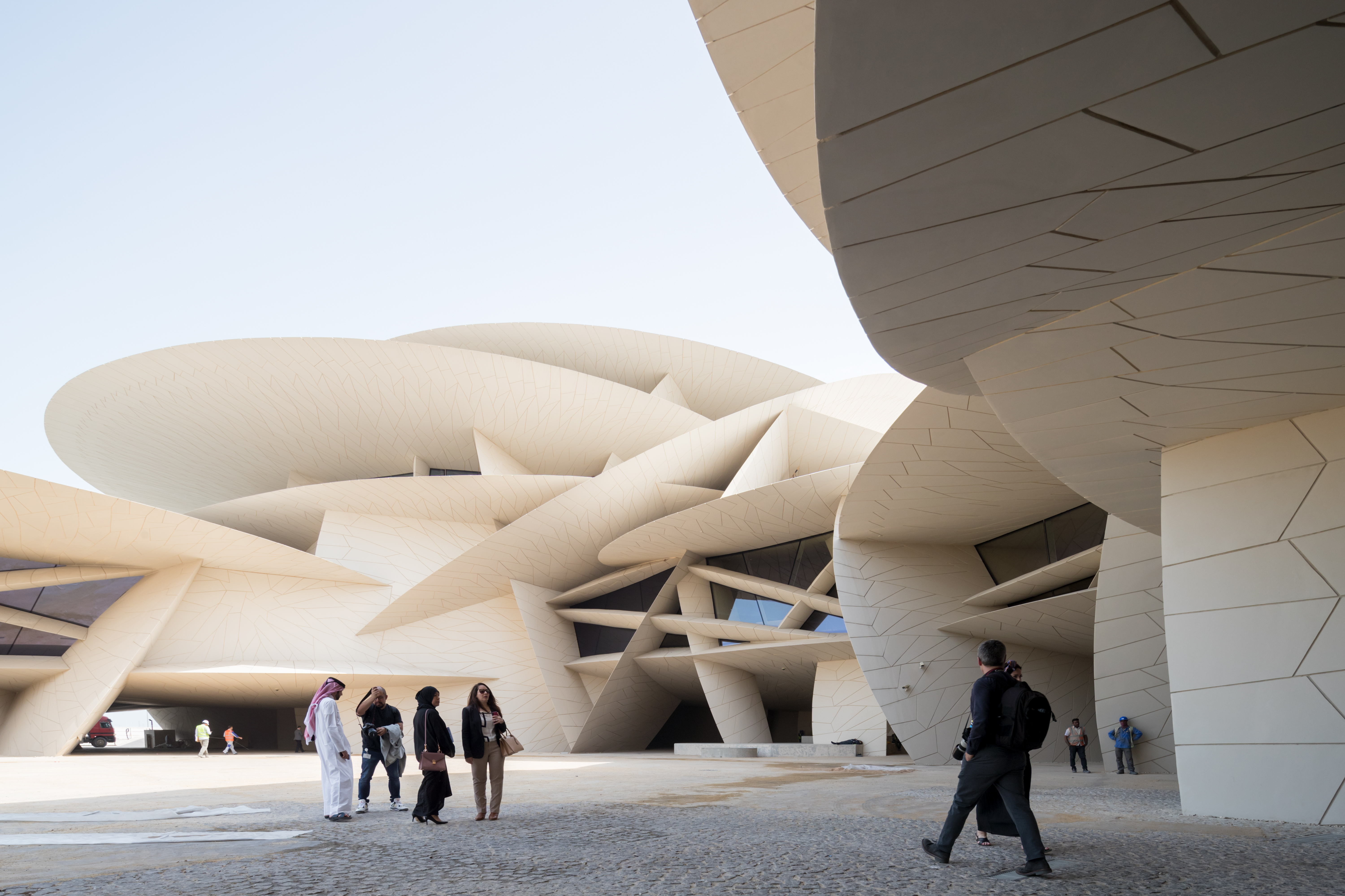 Museum's complex structure comprises of large interlocking disks of different diameters and curvatures. Photo courtesy: National Museum of Qatar