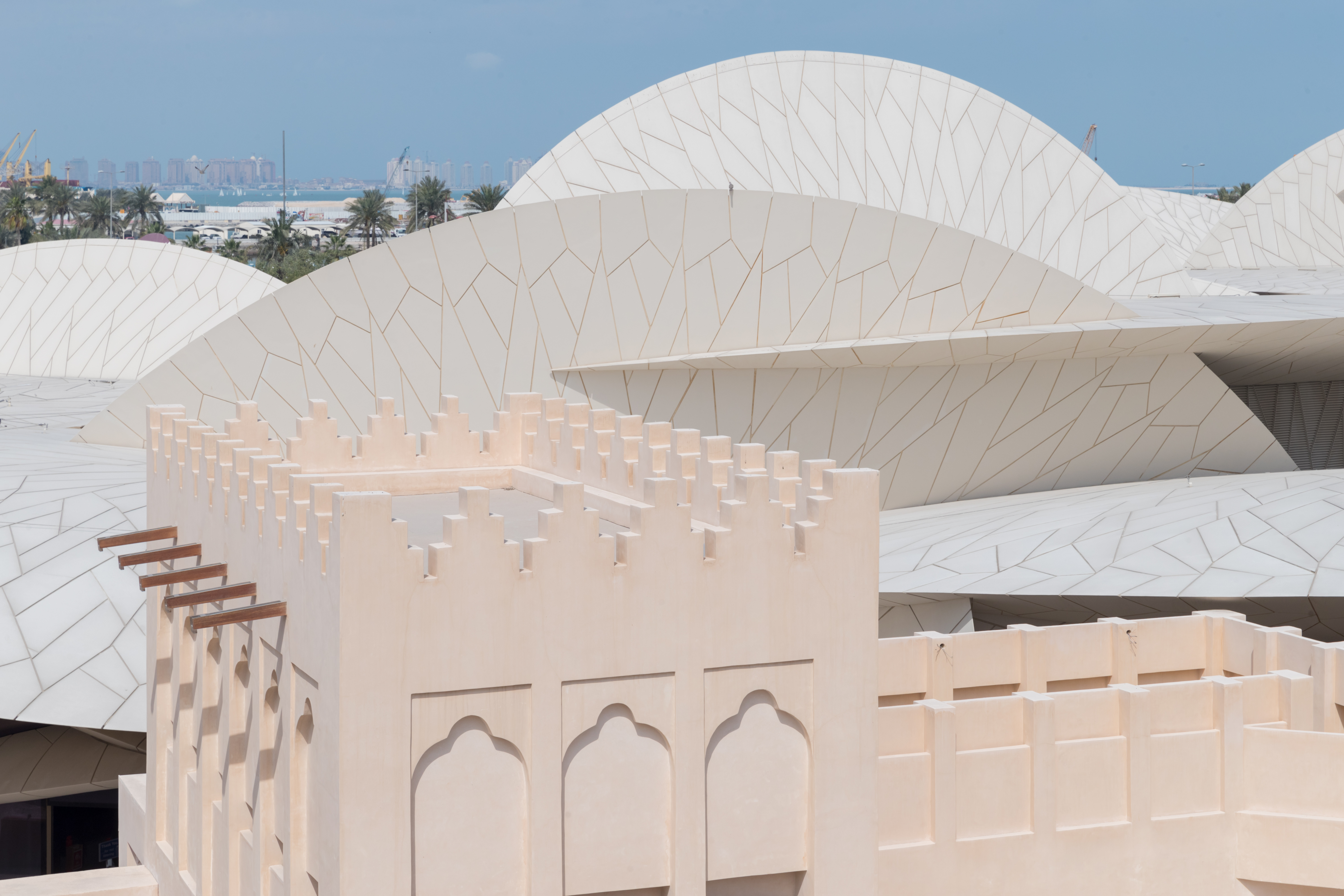 National Museum of Qatar embraces as its centrepiece the restored historic Palace of Sheikh Abdullah bin Jassim Al Thani, son of the founder of modern Qatar. Photo courtesy: National Museum of Qatar