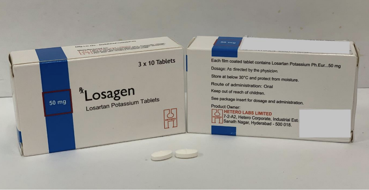 Losagen 50mg. Photo courtesy: HSA