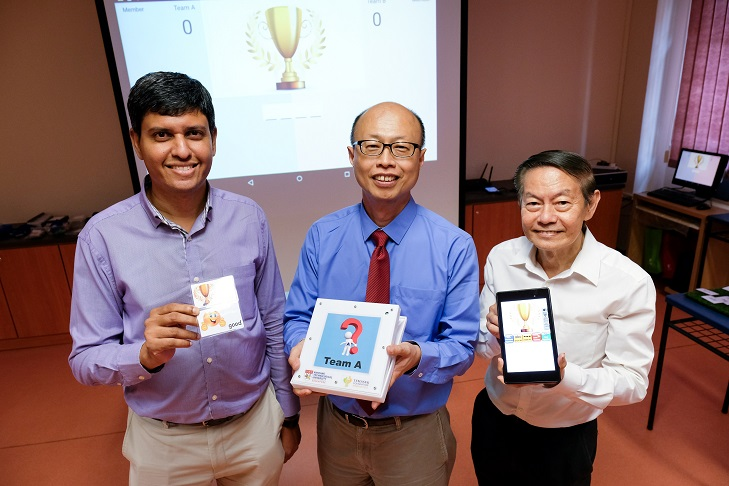Supported by Temasek Foundation, NTU develops interactive educational tools trialled at MINDS. Photo courtesy: NTU