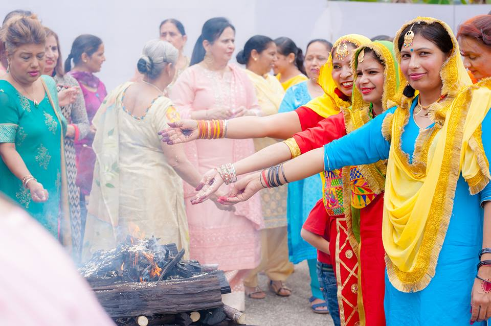 Women participating in Lohri festivities organised by the Ladies' Wing of SKA. Photo courtesy: SKA