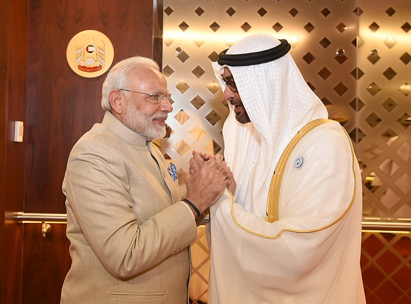 UAE has conferred its highest civilian honour-Zayed Medal upon Indian Prime Minister Narendra Modi. Photo courtesy: Wikimedia