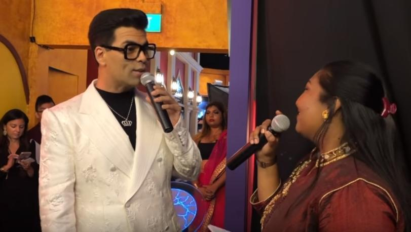 KJo speaking to the crowd about his Madame Tussauds experiences before the unveiling of his wax doppleganger. Photo: Connected to India