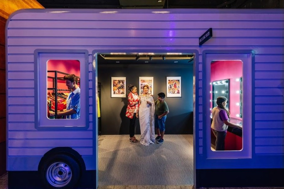 A classic dressing room housed in a trailer starts guests on their journey as budding stars finding the perfect outfit for their movie or premiere. Take the opportunity to snap a photo alongside one of Hindi cinema's most popular actresses, Madhuri Dixit.