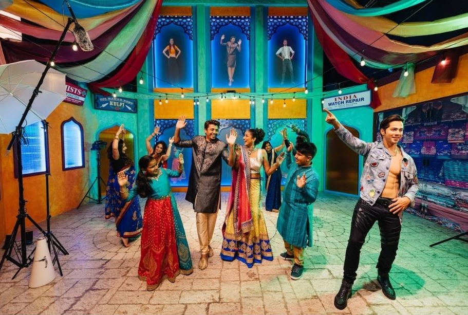 Step into the limelight and dance alongside Varun Dhawan with exclusive celebrity content filmed especially for MTSG. Using Kinect interactive features with real-time camera capture, visitors have the chance to be part of a Bollywood chorus of dancers and have their moves projected directly on a digital wall. Photo courtesy: Madame Tussauds