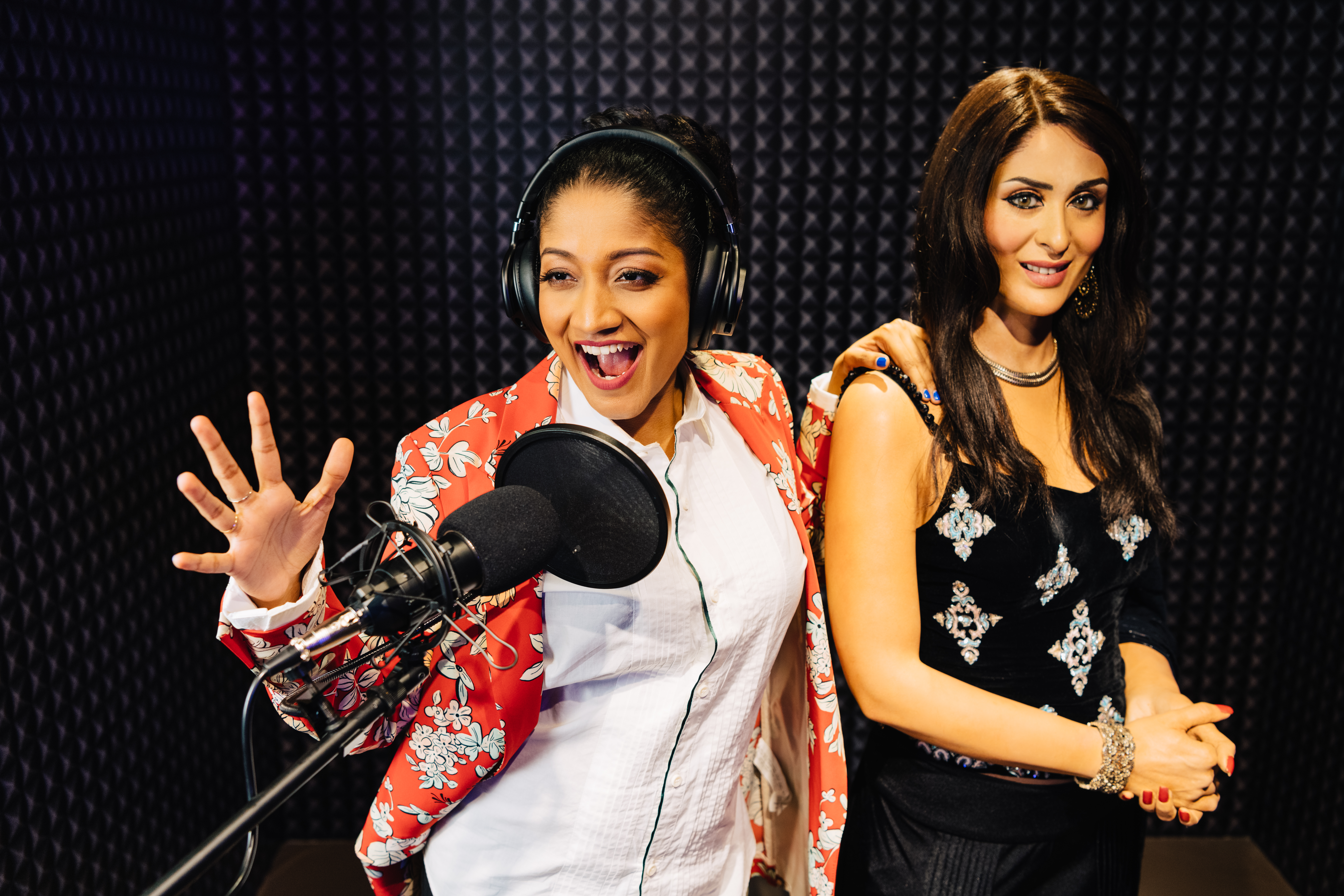 Rock the mic, make some noise and record a single or dub over a film track with Kareena Kapoor. Photo courtesy: Madame Tussauds