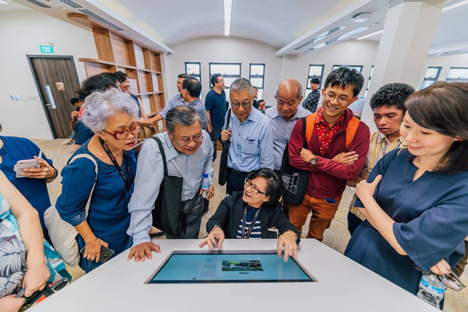 Visitors throng National Archives of Singapore to have a look at the new facilities at the Centre. Photo courtesy: Facebook page of NAS