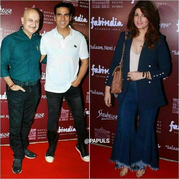 attended by the who's who of Bollywood including Twinkle Khanna along with her husband Akshay Kumar