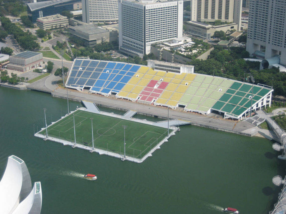 The Float @ Marina Bay will be redeveloped into a permanent space and renamed NS Square when works are completed. Photo courtesy: Wikimedia