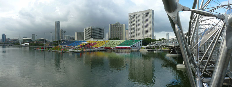 The main intent to transform the venue of The Float @ Marina Bay into a vibrant events and entertainment space where the public can enjoy arts, culture, and sports activities at the waterfront all year round. Photo courtesy: Wikimedia