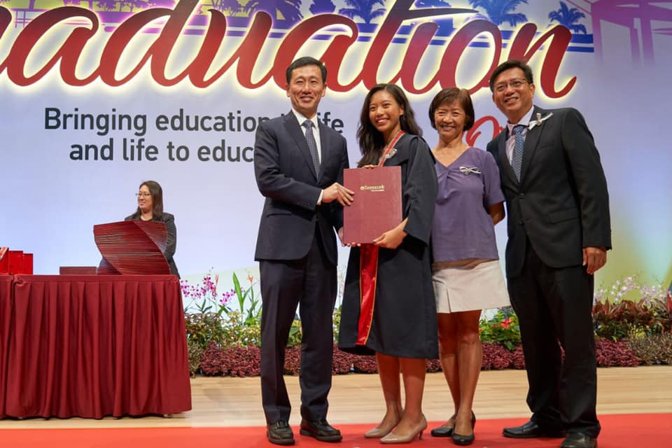 Minister for Education, Ong Ye Kung, announced that students will receive tamper-proof digital certificates from this year during the Temasek Polytechnic's graduation ceremony. Photo courtesy: Facebook page of Ong Ye Kung