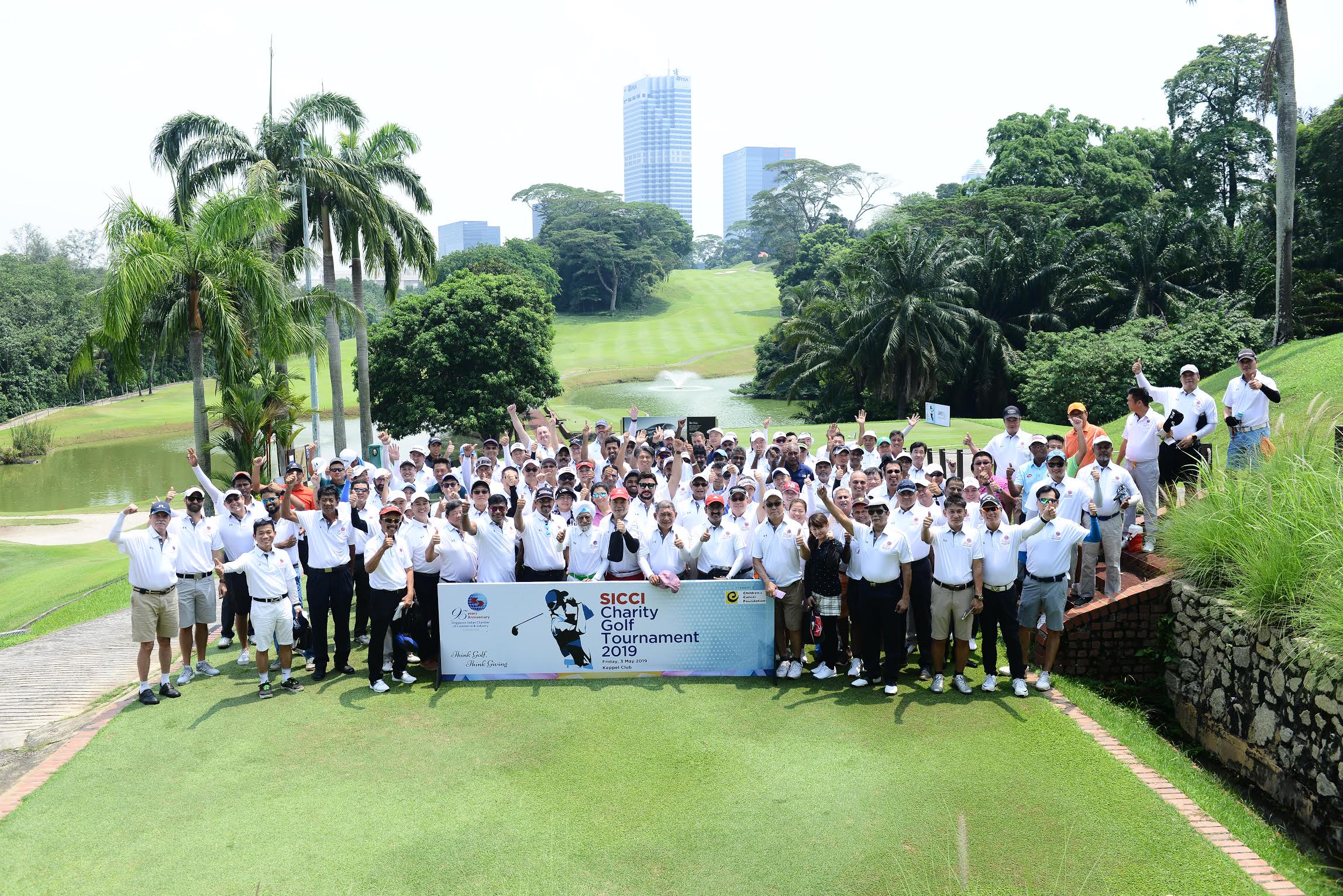 SICCI's inaugural Charity Golf Tournament raised SGD100,000 for the Children's Cancer Foundation. Photo courtesy: Singapore Indian Chamber of Commerce & Industry