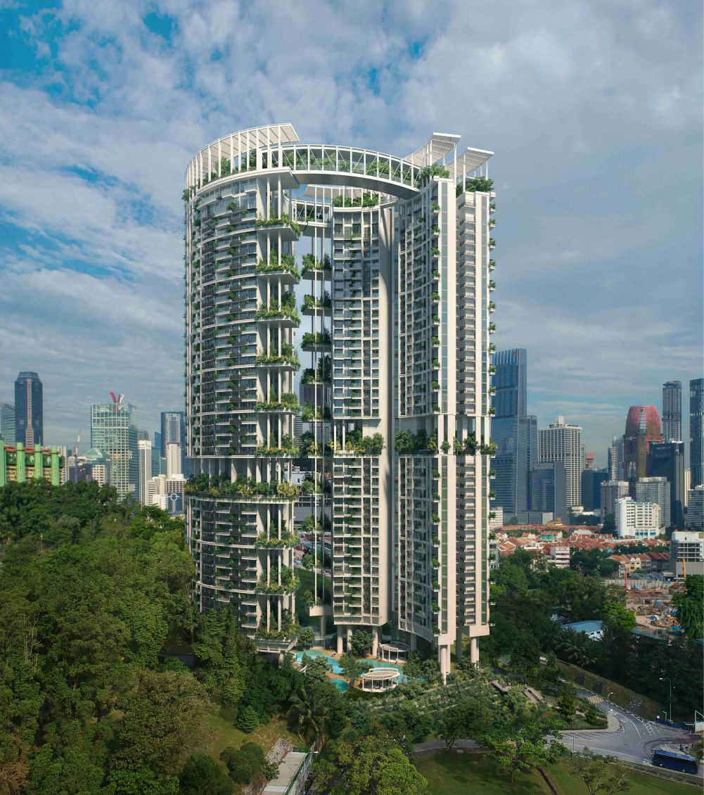CapitaLand today unveiled the design of One Pearl Bank – designed by multi award-winning Serie+Multiply, the new scheme elevates the concept of high-rise living with a total of 774 apartments. Photo courtesy: Capitaland