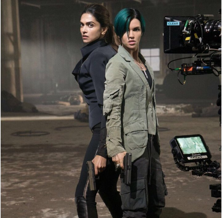Deepika Padukone in 'xXx: The Return of Xander Cage' as Serena Unger with Ruby Rose as Adele Wolff the sniper in Vin Diesel of Hollywood's 2001 blockbuster 'Fast &Furious' fame. Photo courtesy DeepikaHolics, Twitter