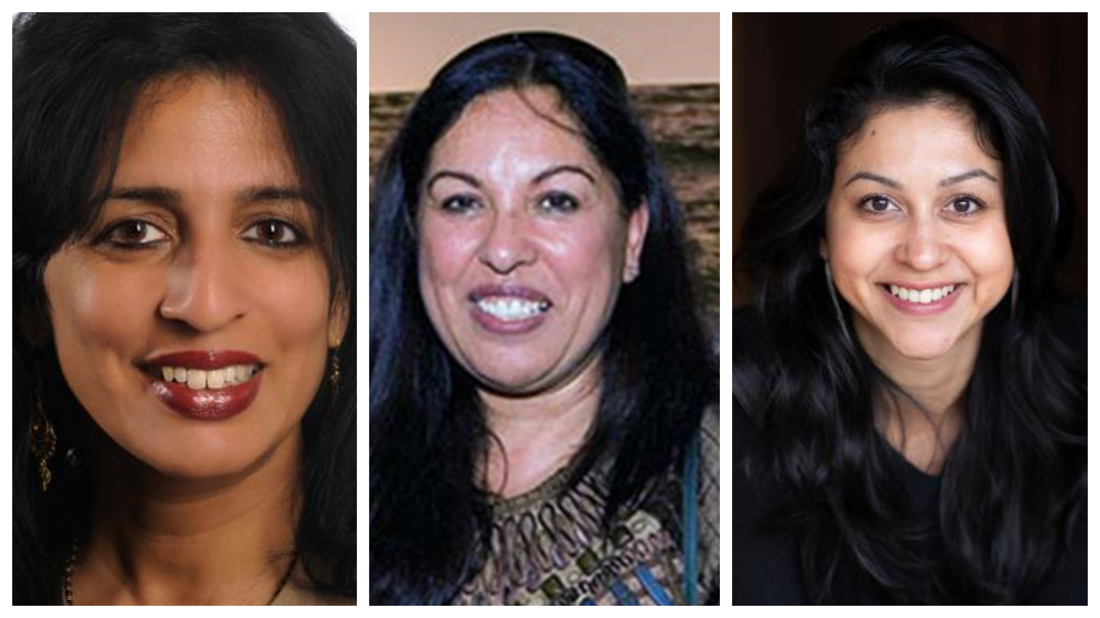 Jayshree Ullal (left), Neerja Sethi and Neha Narkhede (right) have been named in the list  Photo courtesy: Forbes