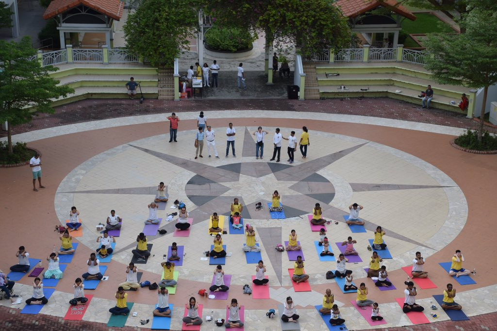 Between June 15-25 2019, 200 yoga sessions will be held across 130 centres across Singapore, including Home of the Athletics near National Stadium\, West Coast Community Centre, which will be attended by Singapore Minister S Iswaran, and other venues.