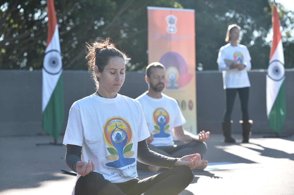 Kirstenbosch National Botanical Garden, against the eastern slopes of Cape Town's Table Mountain, was the venue for a pre-Yoga Day session in South Africa. Photo courtesy: Twitter/@IndiainCapeTown