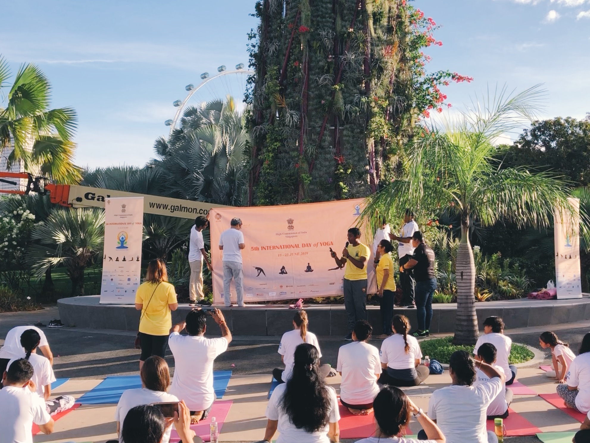 High Commissioner of India to Singapore, Mr Jawed Ashraf, inaugurating the International Day of Yoga 2019. Photo: Connected to India